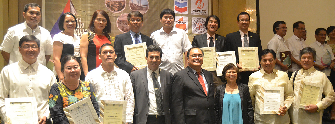 Recognition of National Experts on CaSO and SSO during the National Energy Consciousness Month Celebration on 4 December 2014