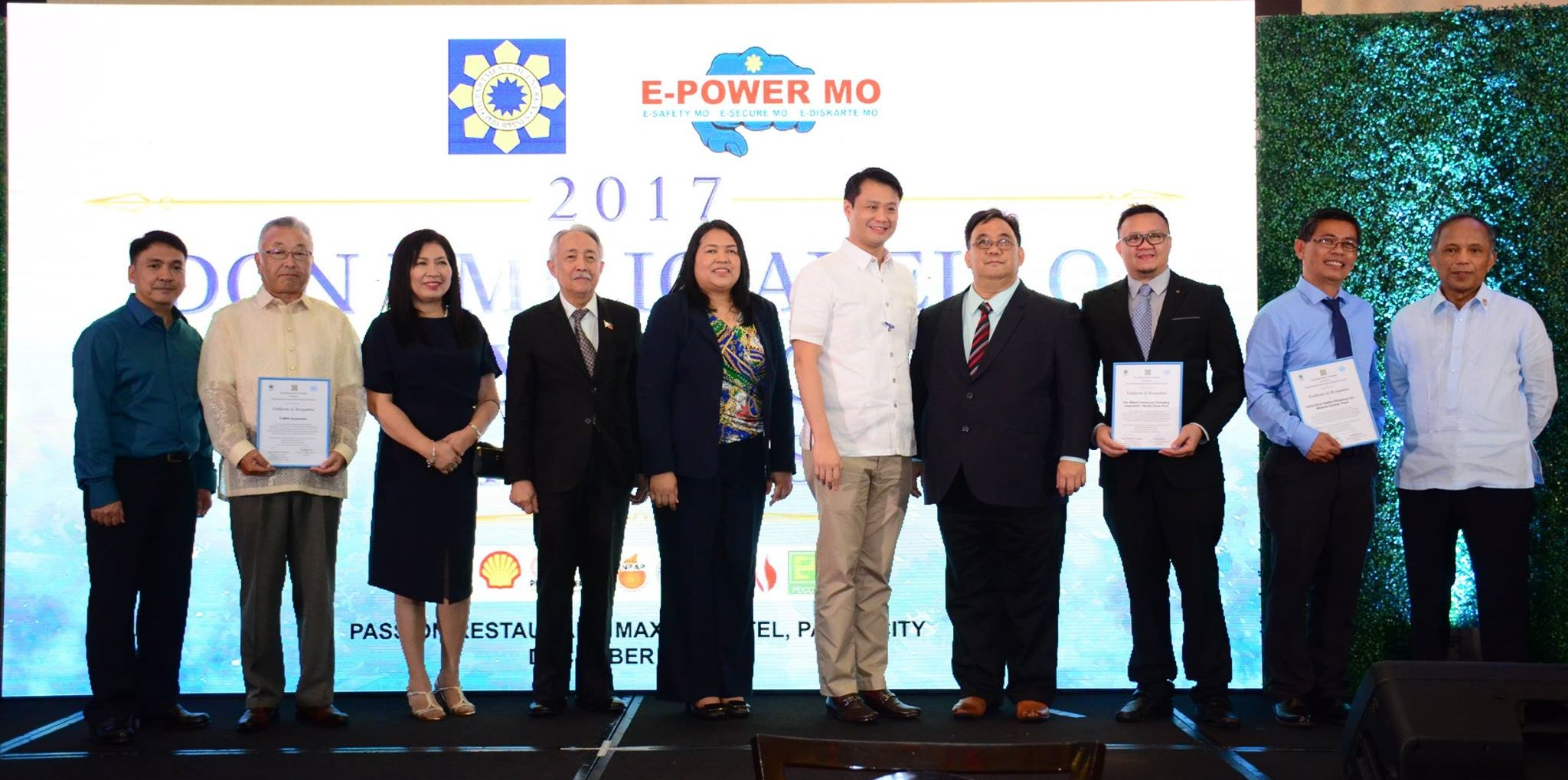 during the Don Emilio Abello Energy Efficiency Awarding 2017