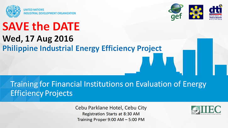 Training for Financial Institutions on Evaluation of Energy Efficiency Projects