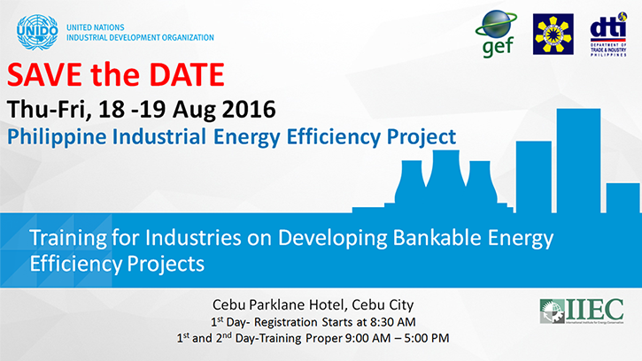 Training for Industries on Developing Bankable Energy Efficiency Projects